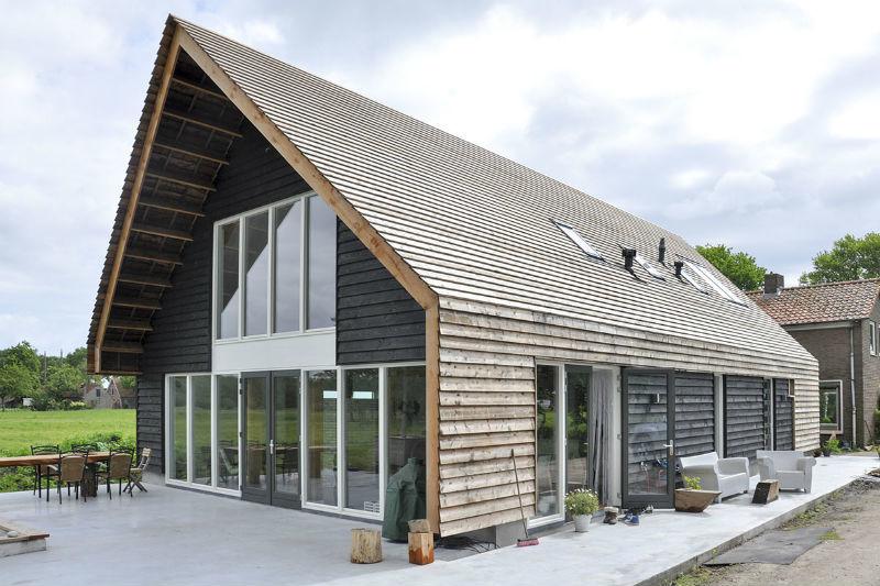 Houten woonhuis eemnes kennisbank biobased bouwen - Uitbreiding huis glas ...