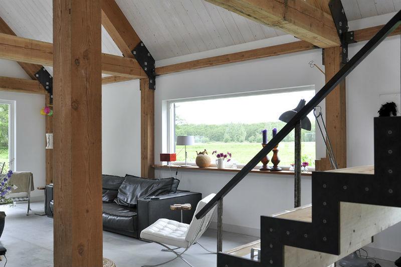 Houten woonhuis eemnes kennisbank biobased bouwen - Interieur gevelbekleding houten ...