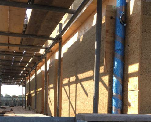 Kalkhennep op de bouw - storten