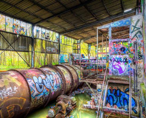 Compilatie van afbeeldingen met graffiti